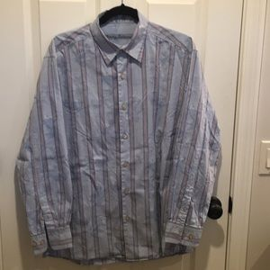 Tommy Bahama cotton/ silk blend long sleeve shirt